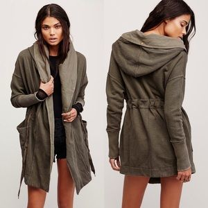 Free People Brentwood Cotton Cardigan in Olive